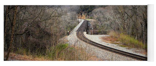 Train Tracks Across The New River - Radford Virginia Yoga Mat