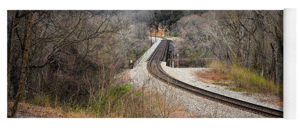 Train Tracks Across The New River - Radford Virginia Yoga Mat