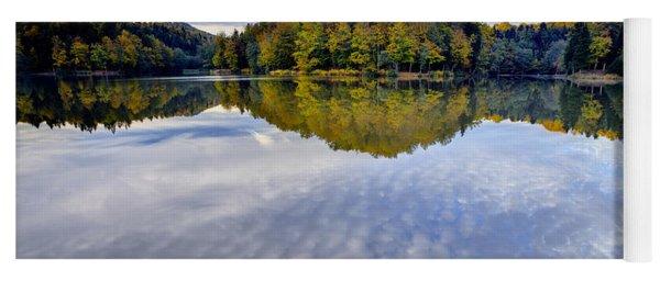 Trakoscan Lake In Autumn Yoga Mat