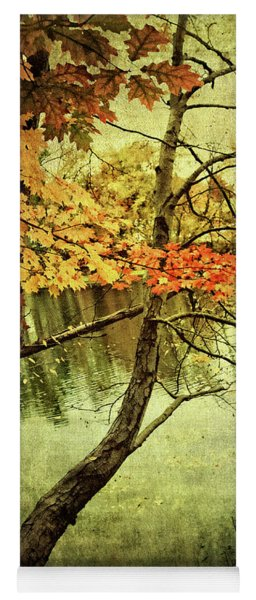 Tranquil Autumn Day Yoga Mat
