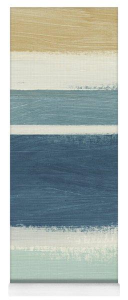 Tranquil Stripes- Art By Linda Woods Yoga Mat