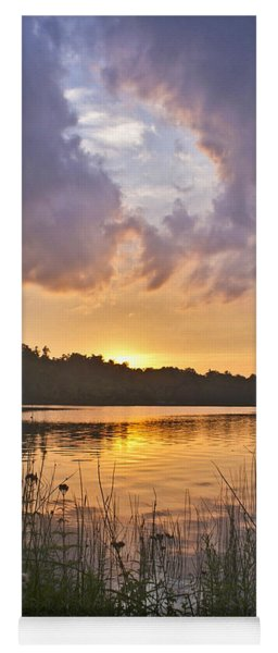 Tranquil Sunset On The Lake Yoga Mat