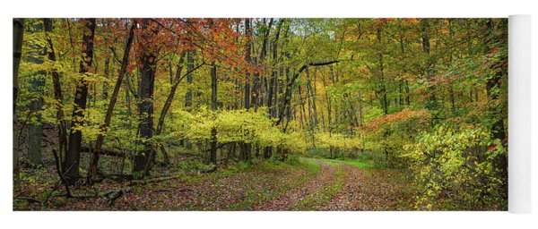 Travels Through Autumn Yoga Mat