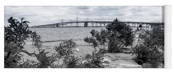 Yoga Mat featuring the photograph Traversing The Chesapeake by T Brian Jones