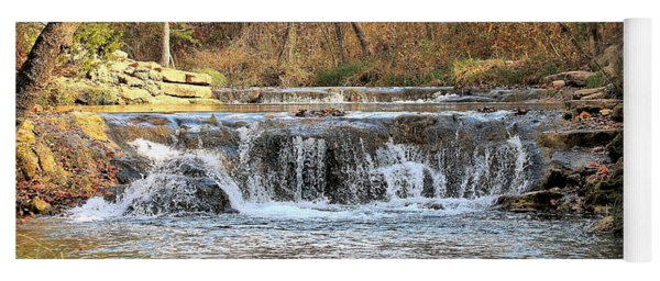 Travertine Creek Waterfall Yoga Mat