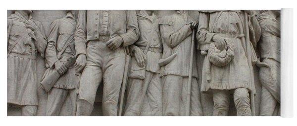 Travis And Crockett On Alamo Monument Yoga Mat