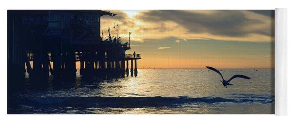 Seagull Pier Sunrise Seascape C1 Yoga Mat