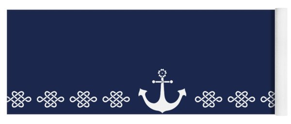 Treasure Knot And Anchor In White Yoga Mat