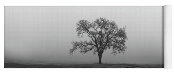 Yoga Mat featuring the photograph Tree Alone In The Fog by Todd Aaron