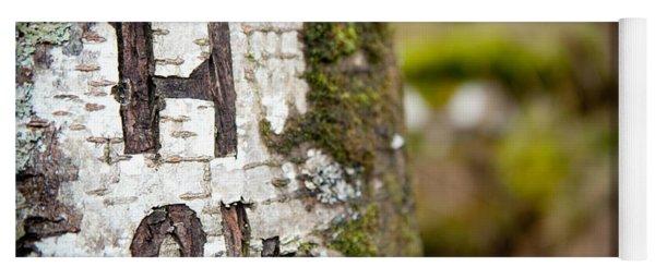 Tree Bark Graffiti - H 04 Yoga Mat