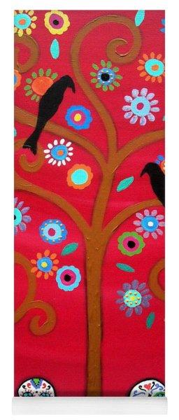Tree Dia De Los Muertos Yoga Mat