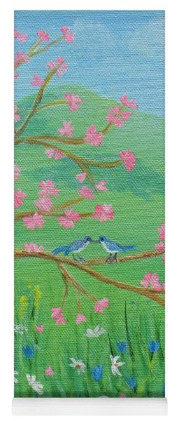 Yoga Mat featuring the painting Tree For Two by Nancy Nale