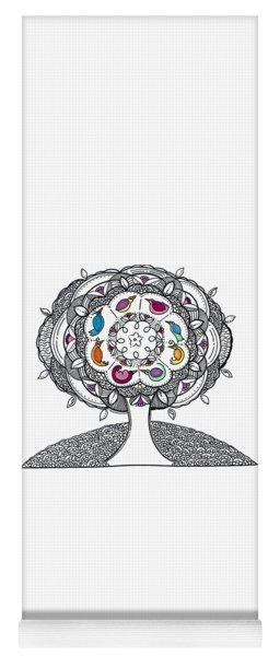 Tree Of Life - Ink Drawing Yoga Mat