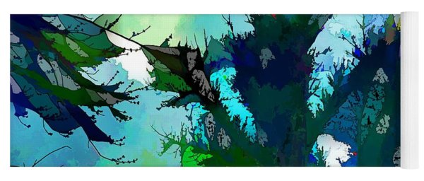 Tree Spirit Abstract Digital Painting Yoga Mat