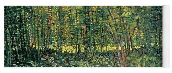 Trees And Undergrowth Yoga Mat