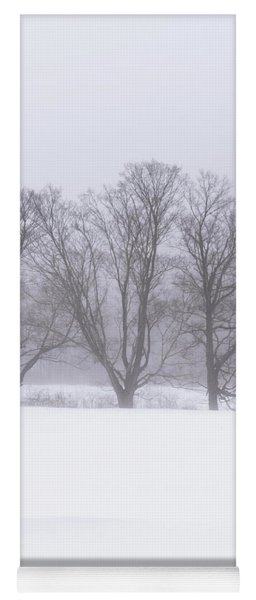 Trees In Fog Yoga Mat