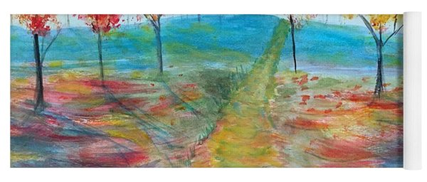Trees Of Autumn Yoga Mat