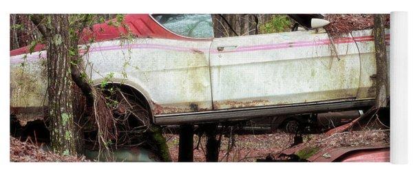 Tri Stack Old Car Image Art Yoga Mat