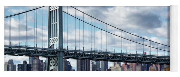 Triboro Bridge In Autumn Yoga Mat