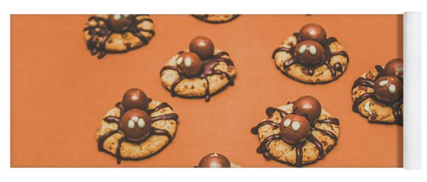 Trick Or Treat Halloween Spider Biscuits Yoga Mat