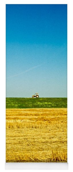 Tricolor With Tractor Yoga Mat