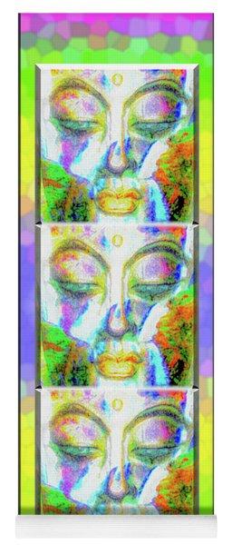 Triple Colorful Buddha Yoga Mat