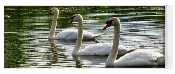Triplet Swans Yoga Mat
