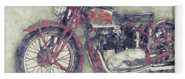 Triumph Speed Twin 1 - 1937 - Vintage Motorcycle Poster - Automotive Art Yoga Mat