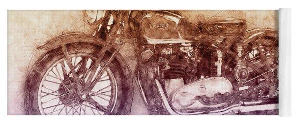 Triumph Speed Twin 2 - 1937 - Vintage Motorcycle Poster - Automotive Art Yoga Mat