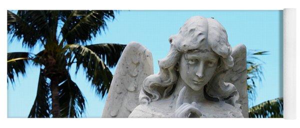 Tropical Angel With Tear Yoga Mat