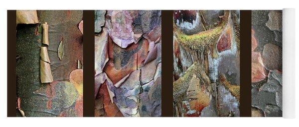 Tropical Bark Collage Yoga Mat