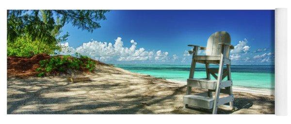 Tropical Beach Chair Yoga Mat
