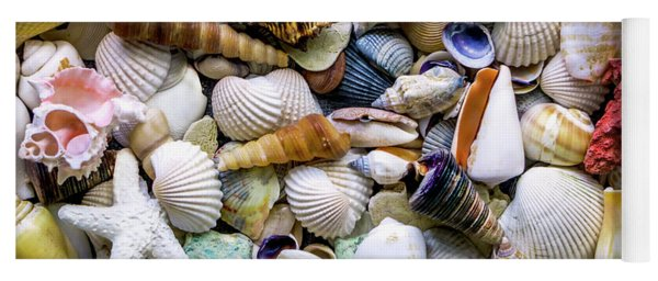 Tropical Beach Seashell Treasures 1500a Yoga Mat