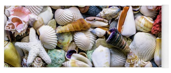 Tropical Beach Seashell Treasures 1500a Yoga Mat