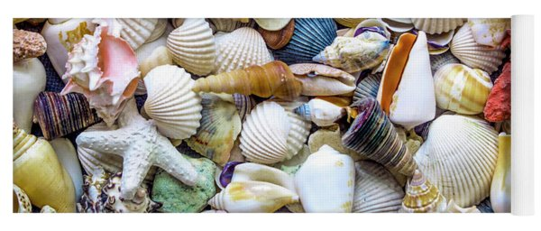 Tropical Beach Seashell Treasures 1529b Yoga Mat
