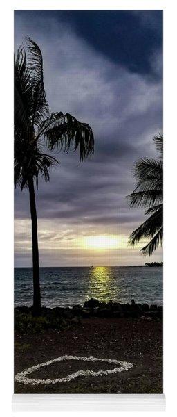 Yoga Mat featuring the photograph Tropical Hawaiian Sunset by Pamela Walton