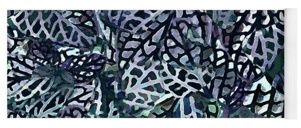 Tropical Jungle Leaves Mosaic Pattern Yoga Mat