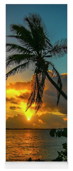Tropical Lagoon Sunrise Yoga Mat