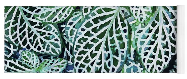 Tropical Nerve Mosaic Plant Fittonia Leaves Yoga Mat