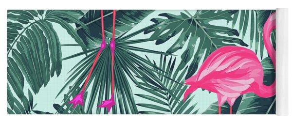Tropical Pink Flamingo Yoga Mat