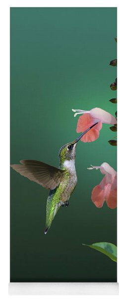 Tropical Sage And Hummingbird Yoga Mat