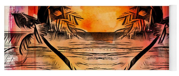 Tropical Seascape Digital Art C7717 Yoga Mat