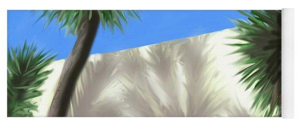 Tropical Shadows Yoga Mat