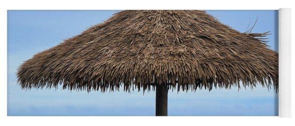Yoga Mat featuring the photograph Tropical Umbrella by Pamela Walton