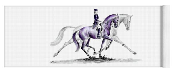 Trot On - Dressage Horse Print Color Tinted Yoga Mat