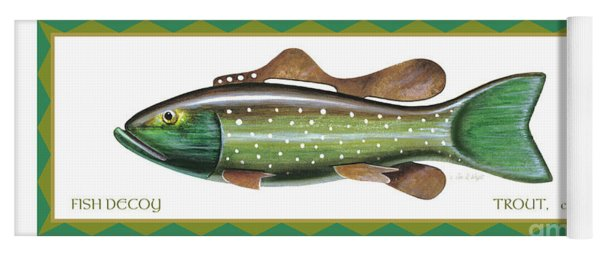 Trout Ice Fishing Decoy Yoga Mat