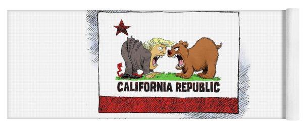 Trump And California Face Off Yoga Mat