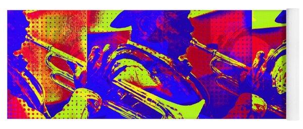 Trumpet Player Pop-art Yoga Mat