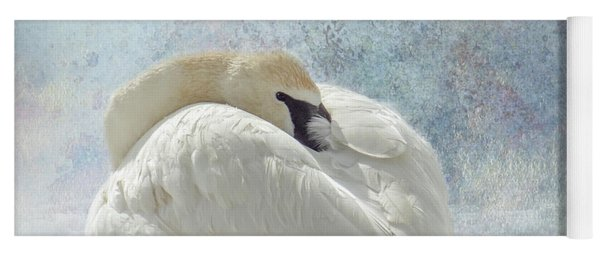 Trumpeter Textures #1 - Swan Feather Yoga Mat