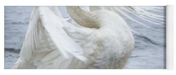 Trumpeter Swan - Misty Display 2 Yoga Mat